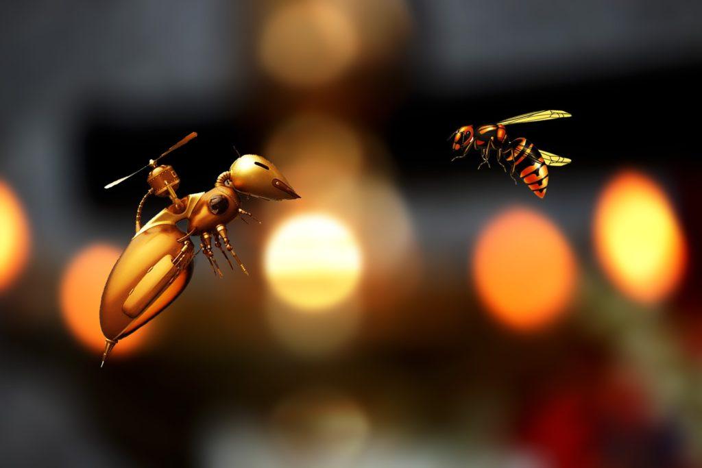 ハチと何か