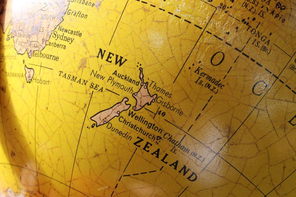 ニュージーランド地図のイメージ