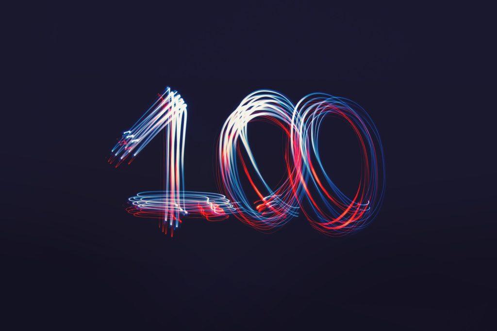 100のイメージ
