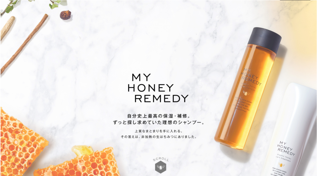 MY HONEY REMEDY HPトップ画像
