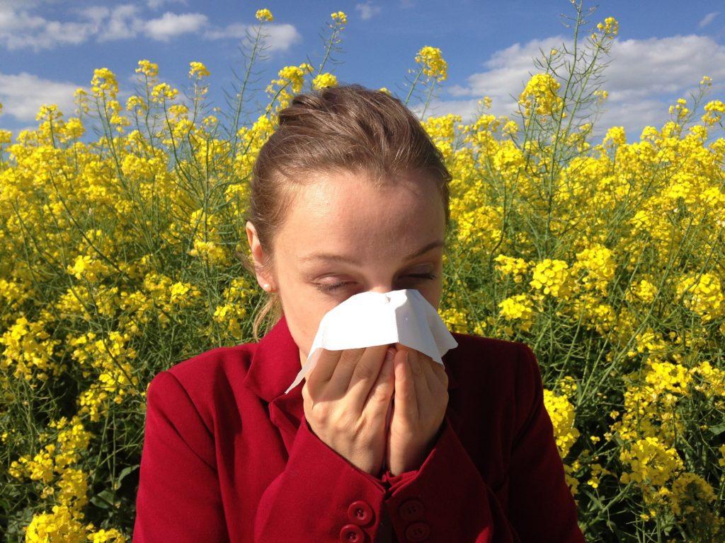 花粉アレルギーのイメージ