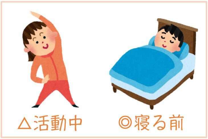 寝る前イメージ