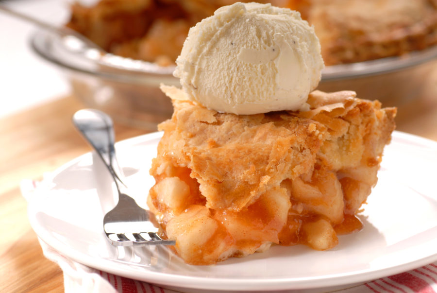 アップルパイとアイスクリーム