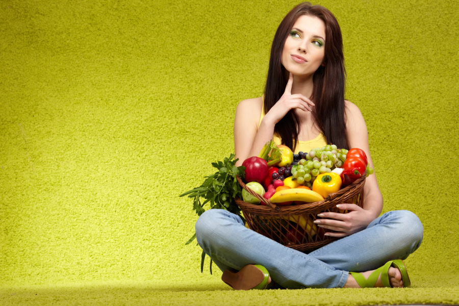 菜食主義の人のイメージ