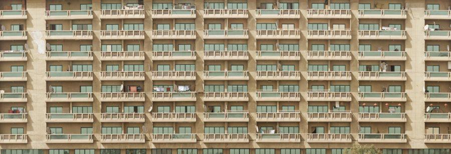 密集した部屋の集合住宅のイメージ