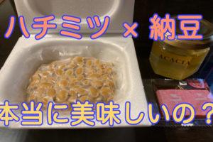 ハチミツと納豆の記事アイキャッチ